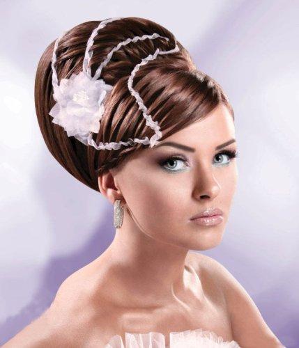 Farklı tasarımlı gelin topuz saç modelleri