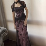 şık dantel abiye elbise modeli