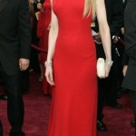 şık sade kırmızı abiye elbise modeli
