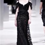 askılı dantel siyah abiye elbise