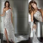 beyaz dantel abiye elbise