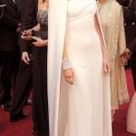 beyaz sade şık abiye elbise modeli