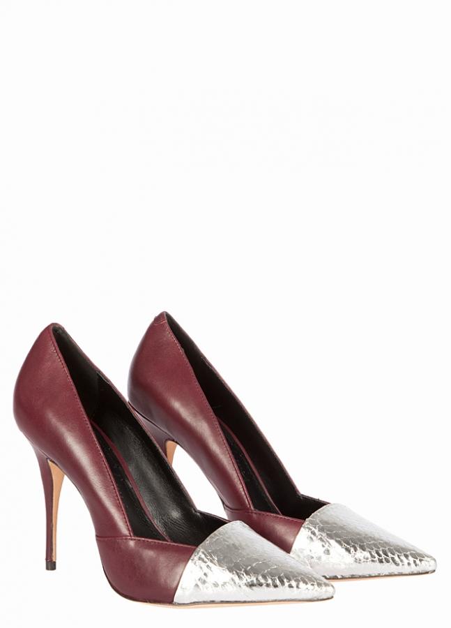 bordo renk şık ayakkabı modeli