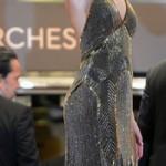 dekolteli payetli abiye elbise modeli