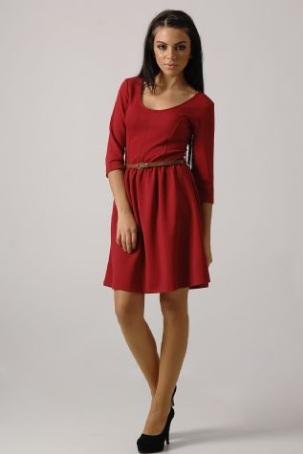 Kırmızı Kapri Kol Bayan Elbisesi Modeli  Moda. Kitchen Cabinets Shaker. Kitchen Diner. Kitchen Shelf Models. Kitchen Backsplash Labor Cost