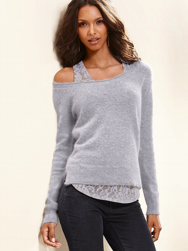 Вязаный пуловер с открытой спиной доставка