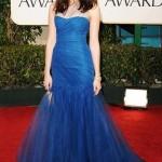 mavi tüllü şık abiye elbise modeli
