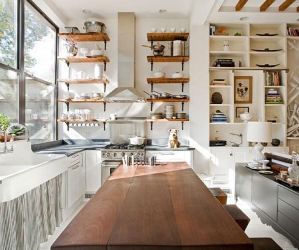 modern açık mutfak raf modeli