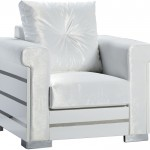 modern beyaz tekli koltuk modeli