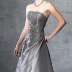straplez uzun dantelli abiye elbise