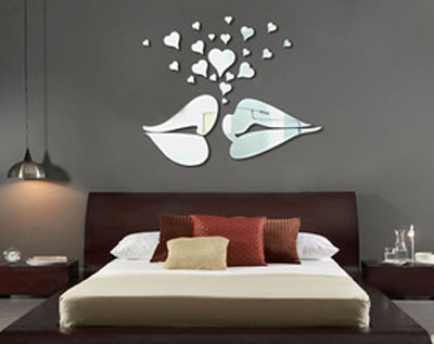 Yeni dekoratif ayna modeli moda for Ikea adesivi murali