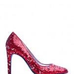 Mango kırmızı payetli ayakkabı modeli