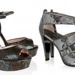 açık abiye tarzı payetli ayakkabı modelleri