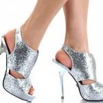abiye tarzı payetli ayakkabı modeli