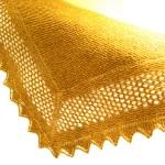 hardal sarısı el örgü şal modeli