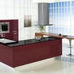 milano bordo şık hazır mutfak modeli