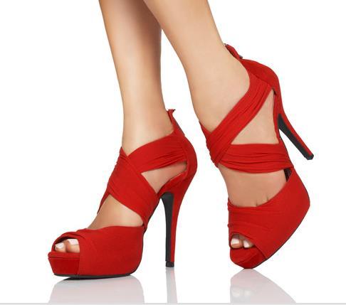 orta boy topuklu platform ayakkabı modeli