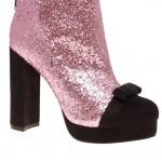 pembe siyah payetli ayakkabı modeli