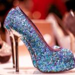renkli-topuklu payetli ayakkabı modeli