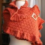 turuncu el örgüsü şal modeli