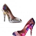 yeni model renkli payetli ayakkabı modelleri