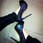 yeni sezon taşlı ayakkabı modeli