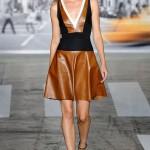 askılı deri elbise dkny bahar koleksiyonu