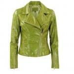 fıstık yeşili 2013 deri mont modeli