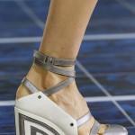 Chanel lakın topuklu ayakkabı modeli