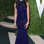 Naomi Campbel şık abiye elbise modeli