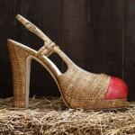 chanel hasır tabanlı ayakkabı modeli