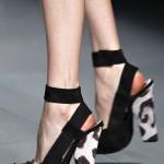 chanel zebra topuklu ayakkabı modeli