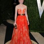 turuncu desenli abiye elbise modeli