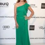 yeşil tek omuz askılı abiye elbise modeli