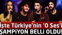 İşte O Ses Türkiye Şampiyonu