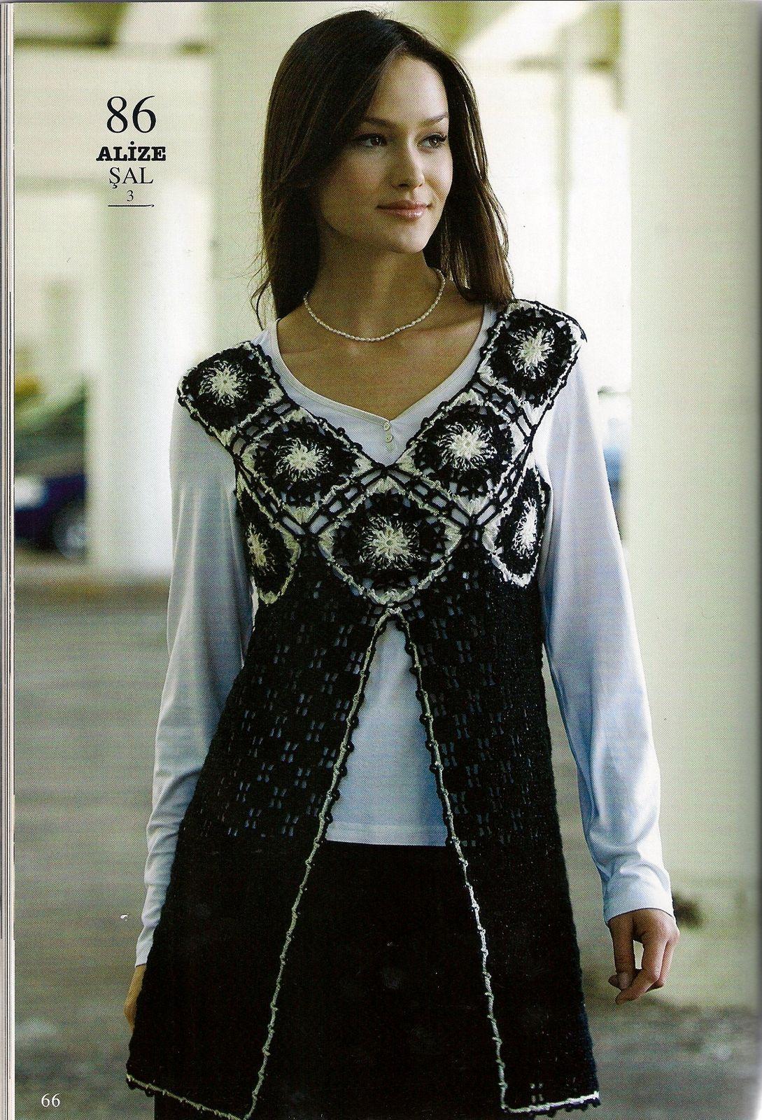 motifli el orgusu yelek modeli moda