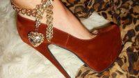 Bilekten Bağlamalı Çok Şık Topuklu Ayakkabılar